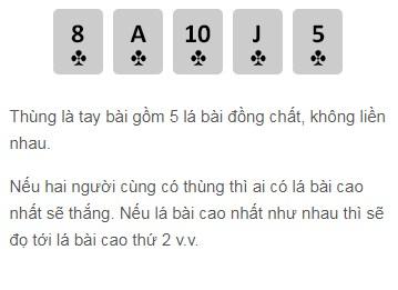 Thùng trong Poker W88